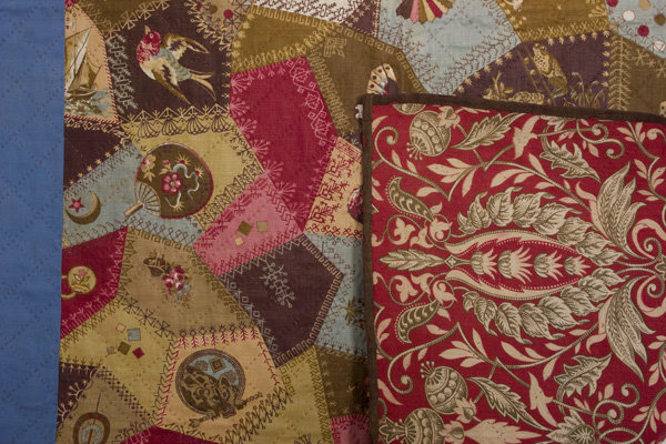 Cheater's Cloth Crib Quilt: Circa 1880