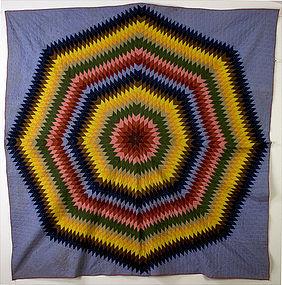 Starburst Quilt: Circa 1870; Pennsylvania