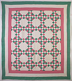 Twenty Five Patch Variation Quilt: Circa 1920