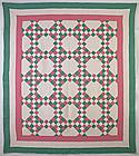 Twenty Five Patch Variation Quilt: Circa 1920