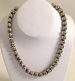 Mexican Silver Beads by Victoria; Circa 1950