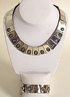 Antonio Pineda Moonstone Necklace & Bracelet Set