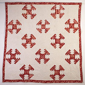 Delectable Mountains Quilt: Circa 1890; Pennsylvania
