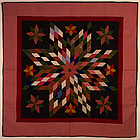 Star of Bethlehem Quilt: Circa 1880; Pennsylvania