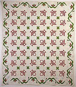 Baskets Quilt: Circa 1870; New York State