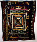 Velvet Center Medallion Quilt: Circa 1920; Pa.
