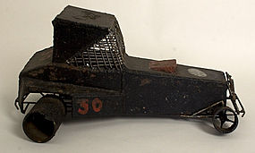 Homemade Iron Racing Car: Circa 1930