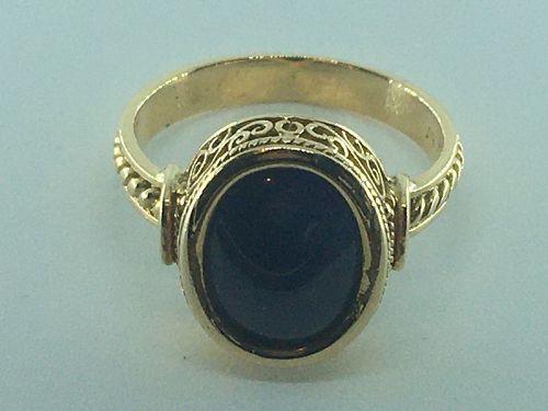 Large unheated Burmese (Mogok) sapphire ring