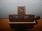 15th C Gilt Iron Tibetan Belt Hook