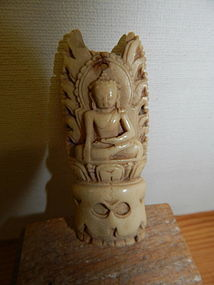 14th C Tibetan Bone Carving