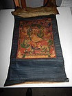19th C Tibetan Thangka of a Protector Deity
