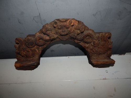 16th C Nepalese Carved Wood Lintel