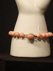 Natural Coral Bead Bracelet