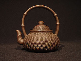 Yixing Teapot Basket with Bamboo Zhou Hanqiang