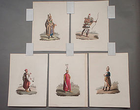 Military Costume of Turkey - Janizaries 5 Prints