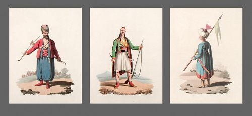 Military Costume of Turkey - Spahis 3 Prints