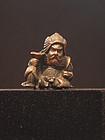 Vintage Bronze Samurai Toggle and Seal