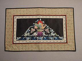 Three Abundances Embroidery with Forbidden Stitch