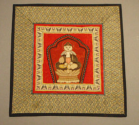 Appliqued Buddha Embroidery Mounted into a Mat