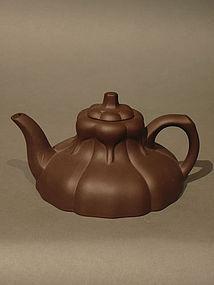 Vintage Yixing Teapot  Magnolia Blossom Shape