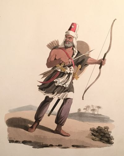 JANIZARY ARABIA FELIX Military Costume Turkey McLean 1818 London
