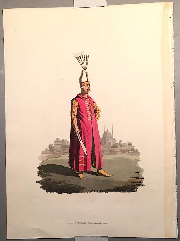 OFFICER JANIZARIES Historical Military Costume Turkey 1818 London