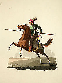 CAVALRY Military Costume Turkey 1818 London