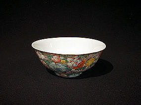 Small Chinese Millefleur Porcelain Bowl