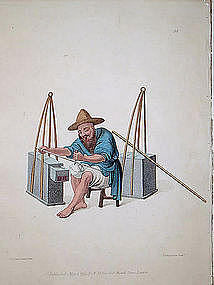 Costume of China Antique Print - Mender of Porcelain