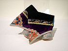 Chinese Embroidered 4 inch Lotus shoes with Ribbon Trim