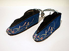 Embroidered Double Shoes with Painted Embellishments