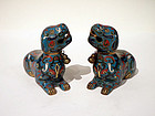 Vintage Chinese Cloisonne Joss Stick or Incense Holders