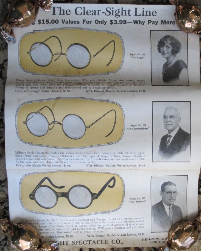 Clever 1920s Eye Tester Exam Chart for Home Use