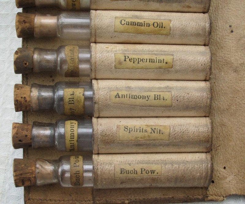 Complete Civil War Era Doctor Medicine Case w/ Opium