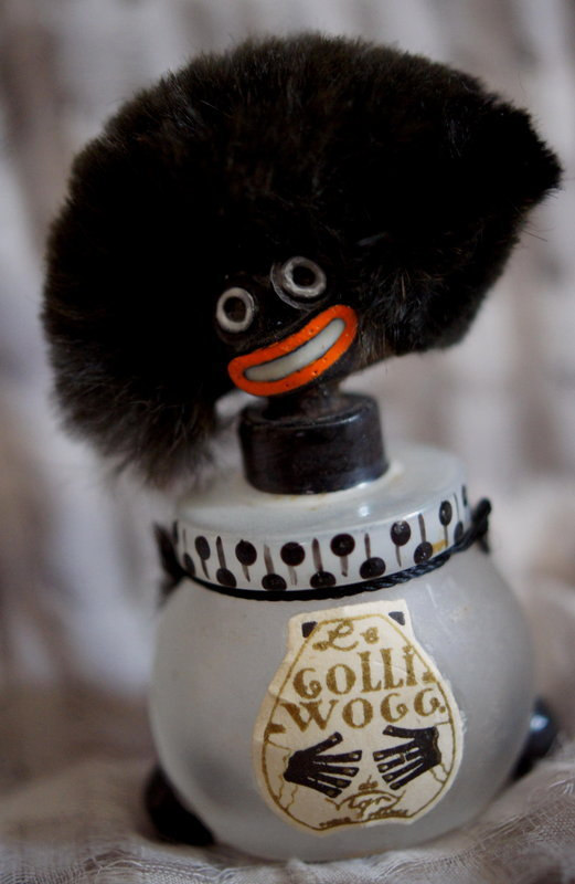 Ca 1919 Satin Glass Vigny France Black Golliwogg Perfume
