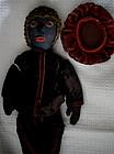 C1900 Black Folk Art Cloth Doll in Shakespeare Costume