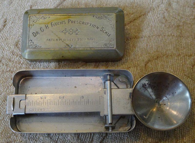 Dr. Fitch's 1885 Prescription Pharmacy Drugstore Scale #1