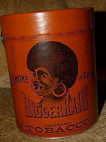 Black Americana 1926Once Nigger BIGGER Hair Tobacco Tin