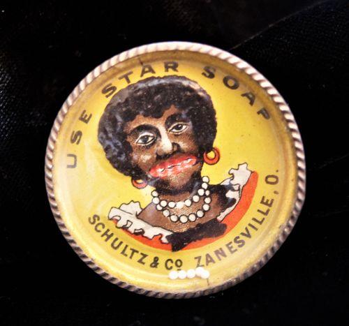 1920s Germany Fancy Black Woman Dexterity Puzzle Advertising Star Soap