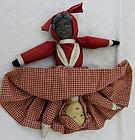 1901 Patent Date Albert Bruckner Black/White Topsy Turvy Doll