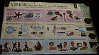 Colorful 1956 DoubleSided Educational Eye Vision Chart New York City