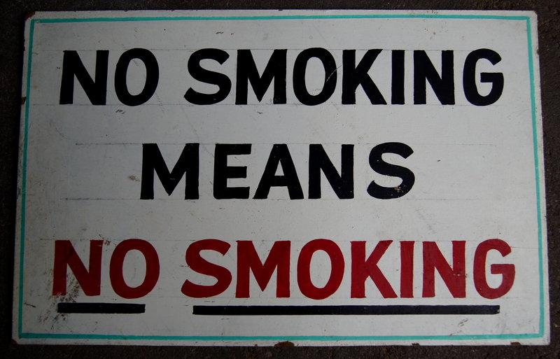 Vintage 1940s NO SMOKING MEANS NO SMOKING HndPtd Sign