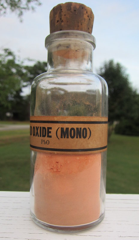 Fabulous Early Chemist Pharmacy LEAD OXIDE Bottle