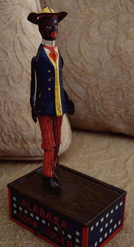 1910 Strauss Black Alabama Coon Jigger Wind Up Tin Toy
