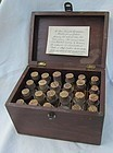 19thC Homeopathic Medicine Pharmacy Case w/Pill Bottles