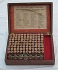 Fab 19thC Homeopathic Medicine Doctors Case w/ opium