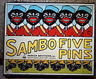 1921 Parker Bros SAMBO FIVE PINS Target Bowling Game