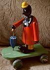 ExRARE C1920 Shufflin Sam Black Figure Wood Pull Toy