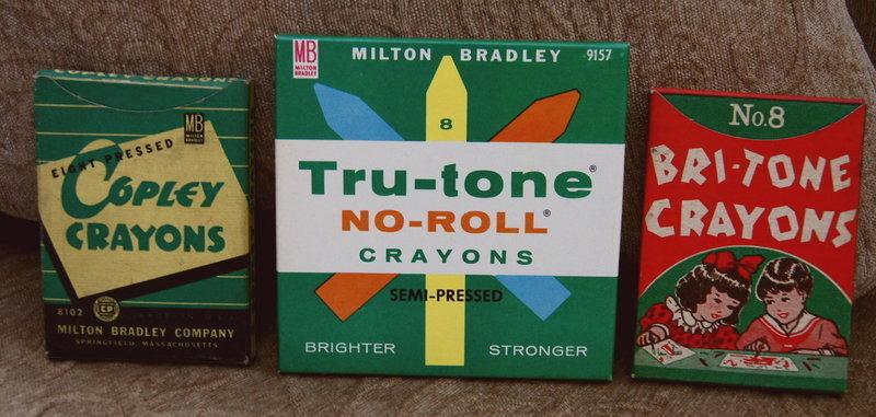 Mint Vintage 1950-60's School Tru-Tone Boxed Crayons
