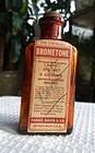 C1910 Rare Parke Davis Bromotone Sedative Hypnotic Pharmacy Bottle